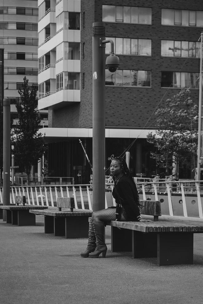 Kaylissim - Angel Are Around Us - Instagram - Rotterdam Photo Black and White